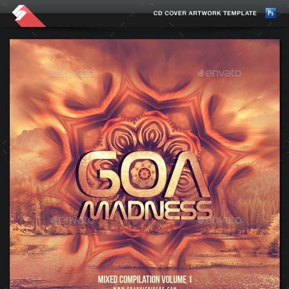 Goa Madness - Psytrance Album CD Cover Template