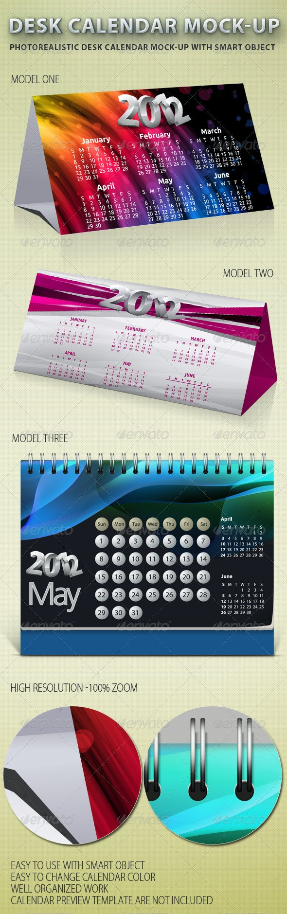 Desk Calendar Mock-up - Miscellaneous Print
