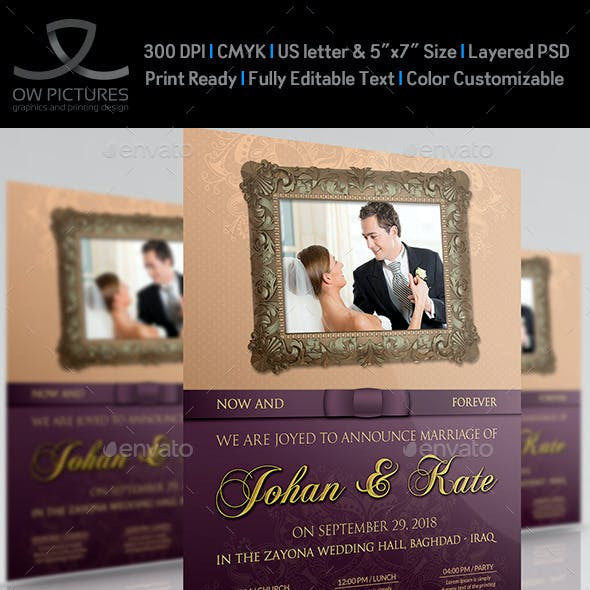 Wedding Party Flyer Template