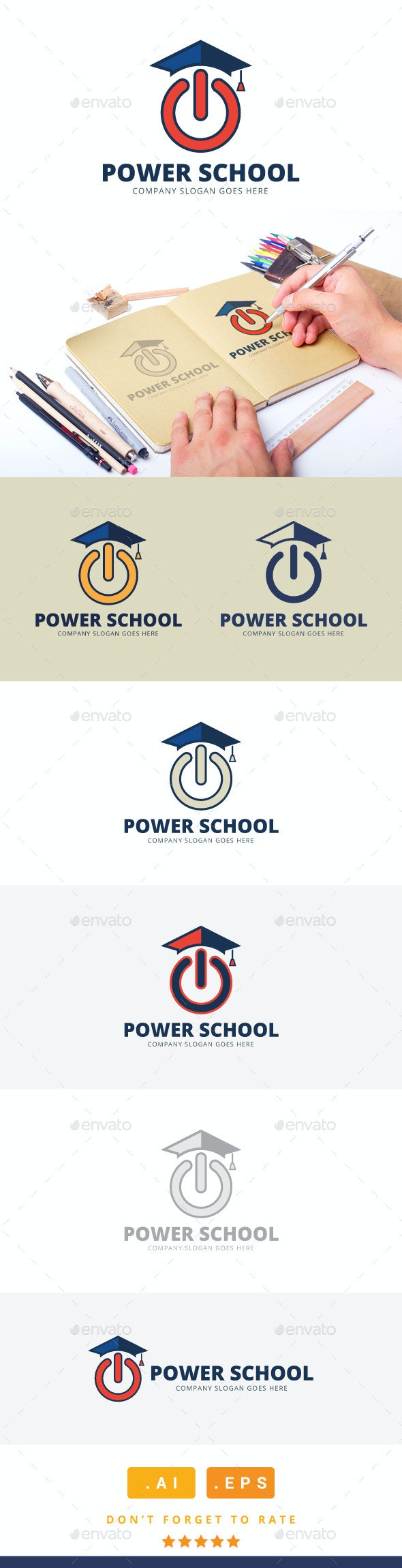 Power School Logo - College Logo Templates