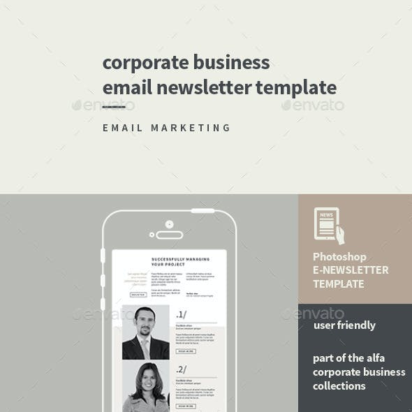 Corporate Business Email Newsletter