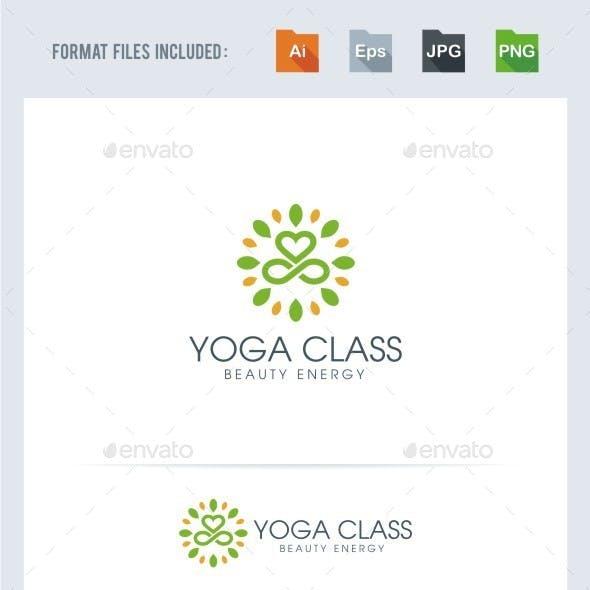 Yoga Class Logo Template