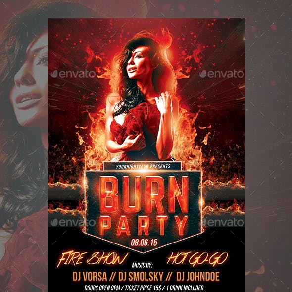Burn Party Flyer Template