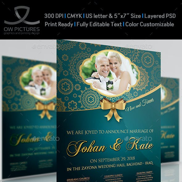 Wedding Party Flyer Template Vol.2