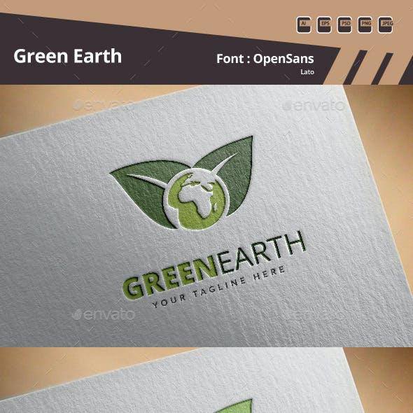 Green Earth Logo Template