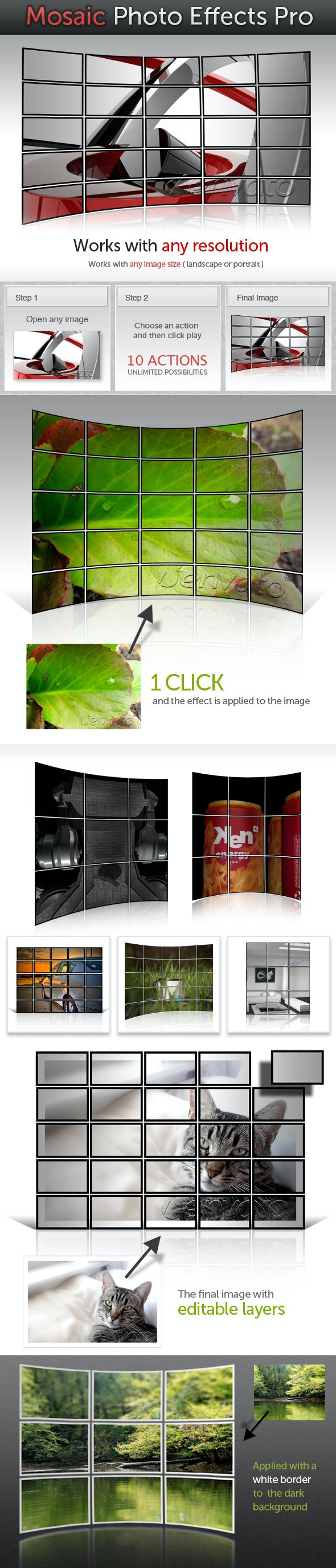 Mosaic Photo Effects Pro - Utilities Actions