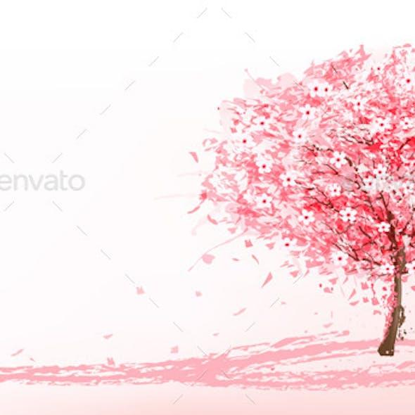 Pink Blooming Sakura