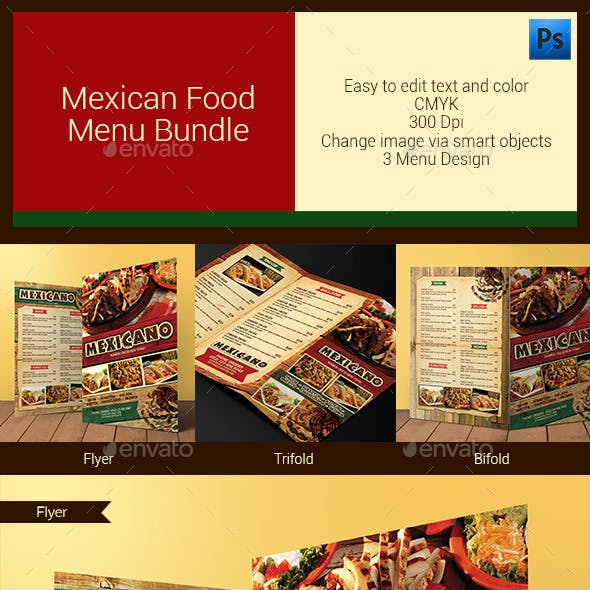 Mexican Food Menu Bundle