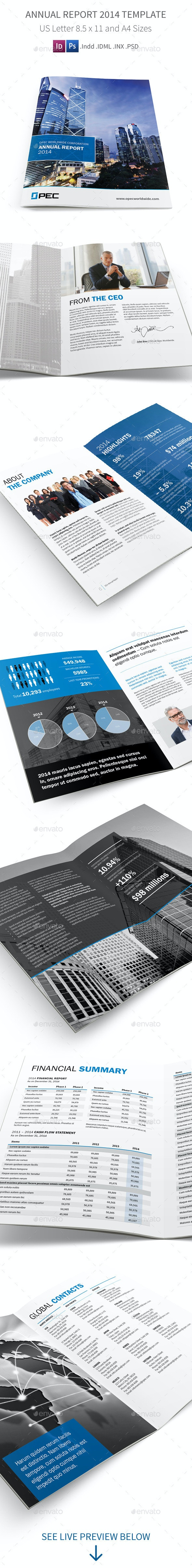 Annual Report 2014 Template - Corporate Brochures