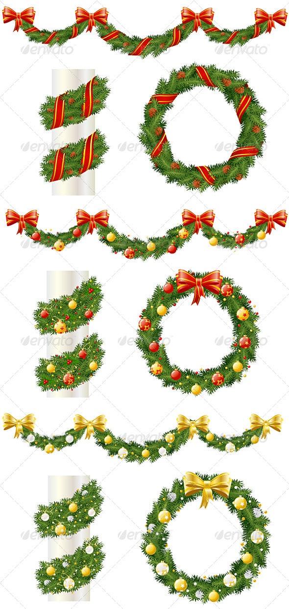 Christmas Pine dDecorations - Christmas Seasons/Holidays