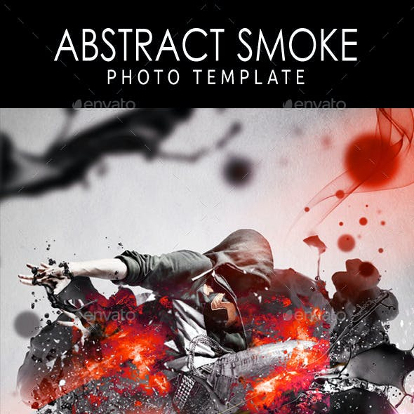Abstract Smoke Photo Template