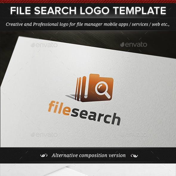 File Search Logo Template