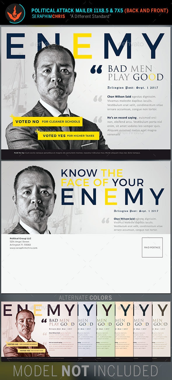 Enemy: Political Attack Mailer Template - Corporate Flyers
