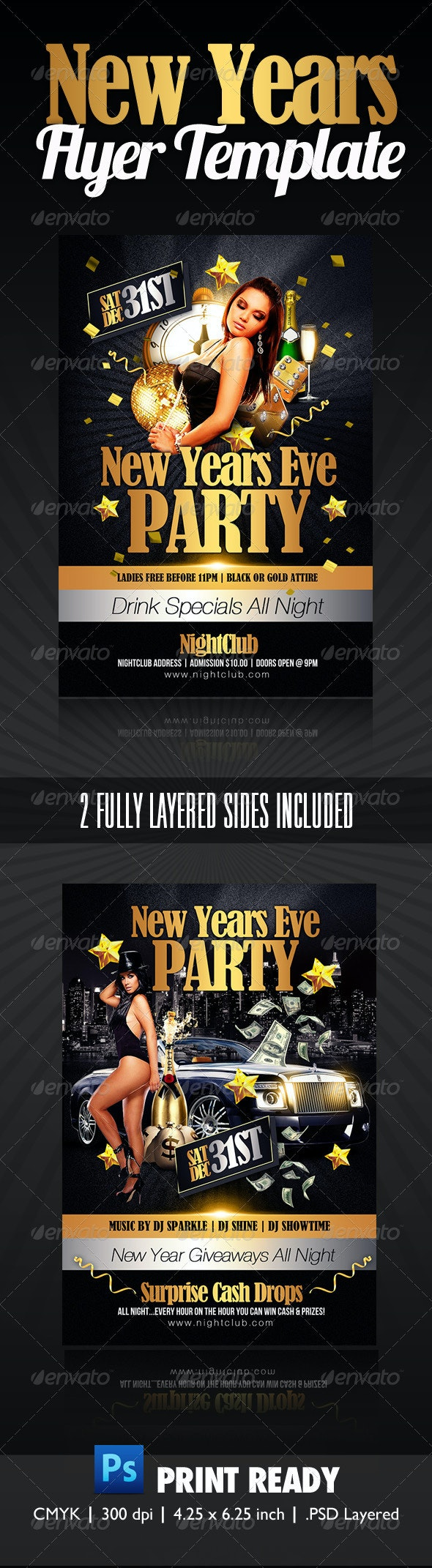 New Years Party Flyer - Clubs & Parties Events