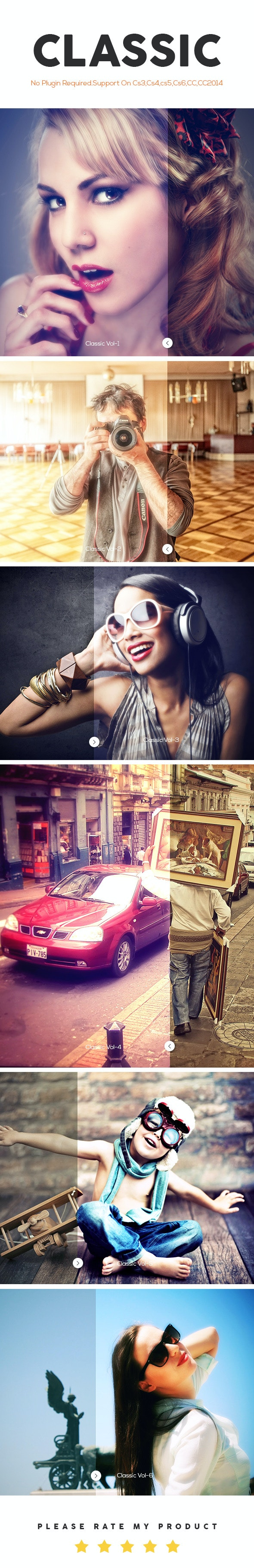 Classic Photoshop Action - Photo Effects Actions