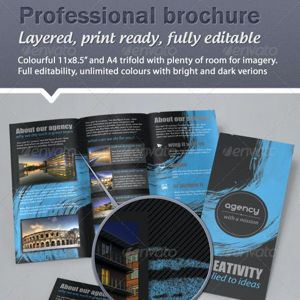Colorful, Fresh Trifold Brochure - 11x8.5 & A4