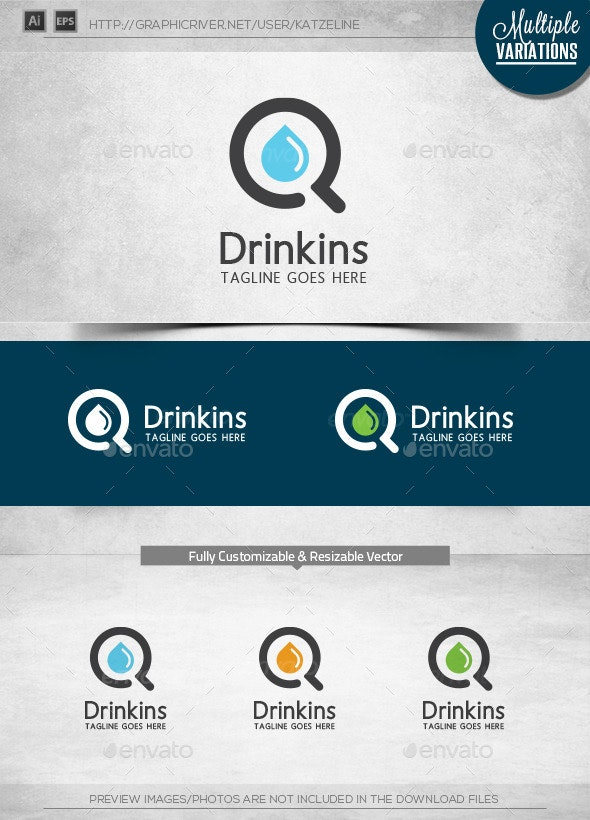 Drink Finder - Logo Template - Objects Logo Templates