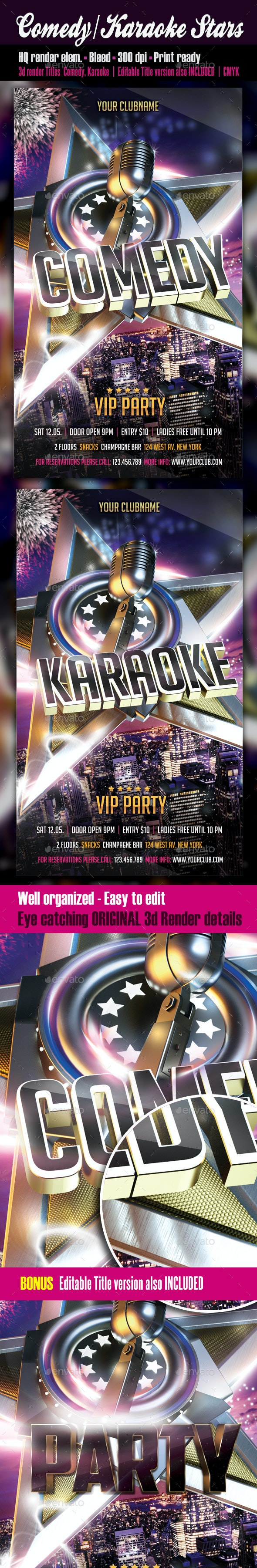 Comedy or Karaoke Stars - Clubs & Parties Events