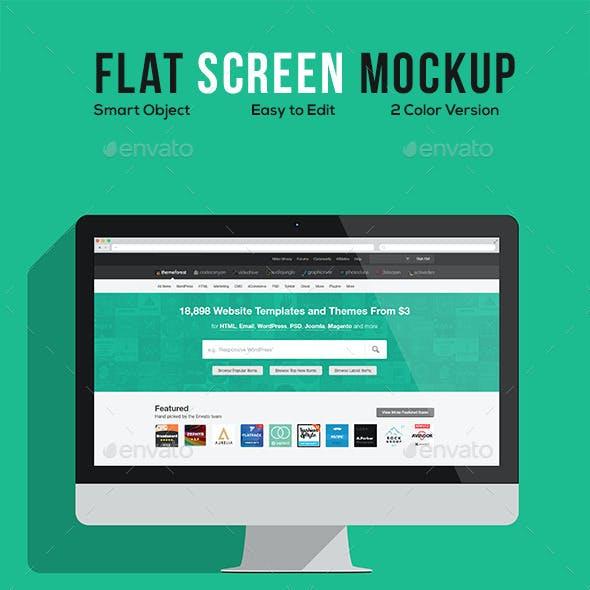 Flat Screen Mockup