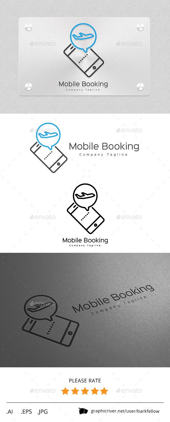 Mobile Online Travel Booking Logo - Objects Logo Templates