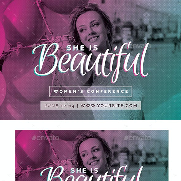 Women's Conference Template - She is Beautiful