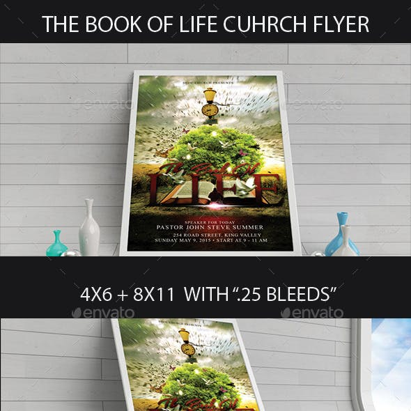 The Book Of Life Church Flyer
