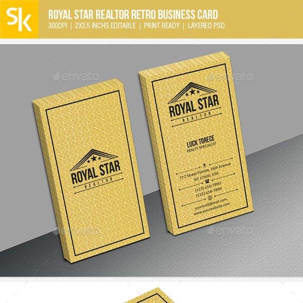 Royal Star Realtor Retro Business Card