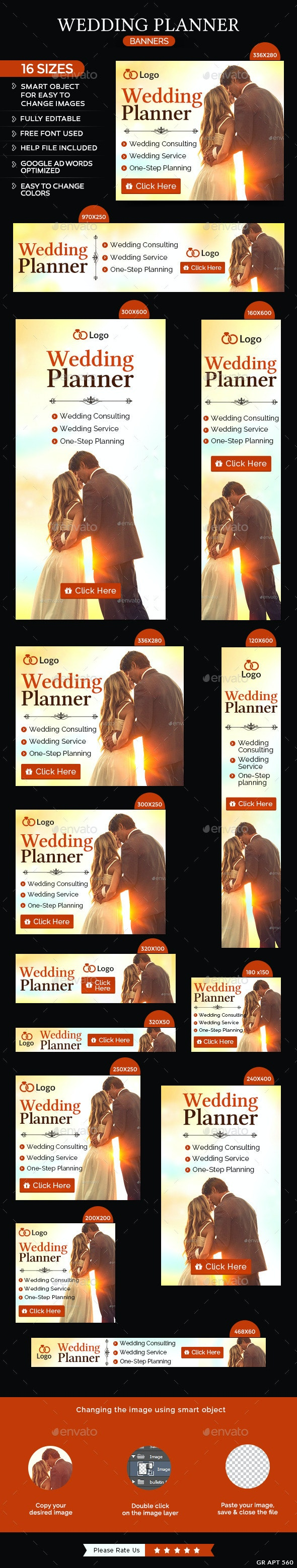 Wedding Planning Banners - Banners & Ads Web Elements