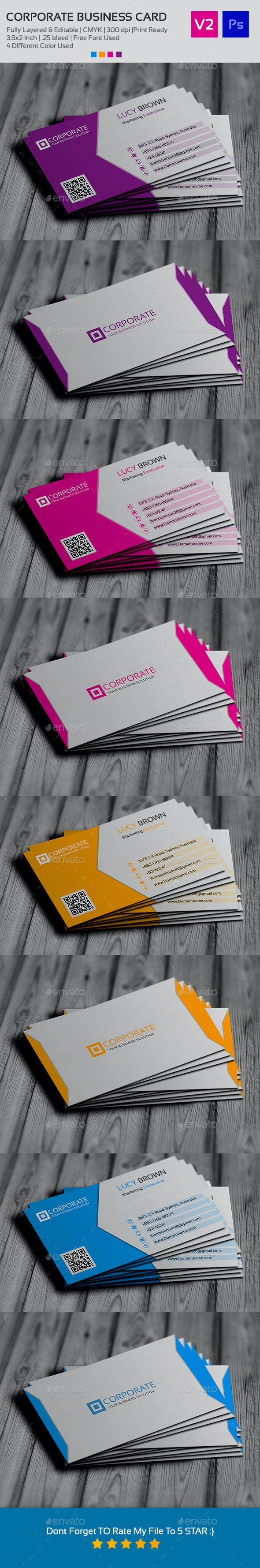 Simple Business Card V2 - Business Cards Print Templates