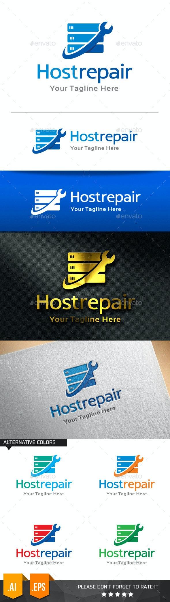 Host Repair Logo Template - Objects Logo Templates