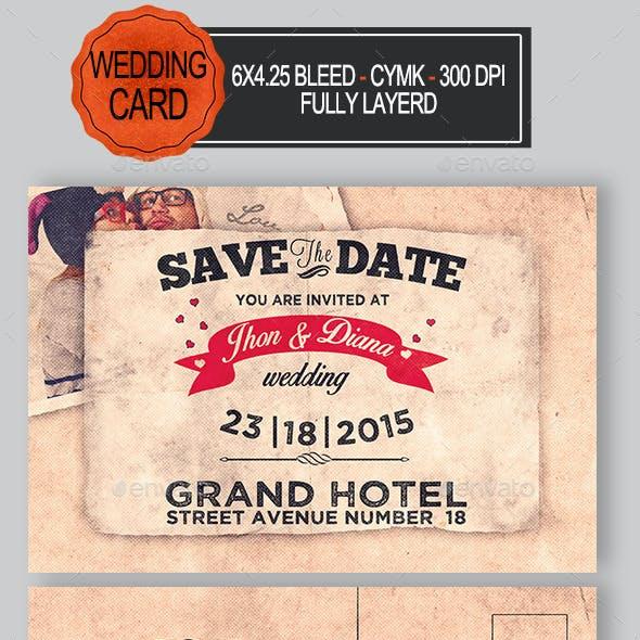 Wedding Invitation Poscard