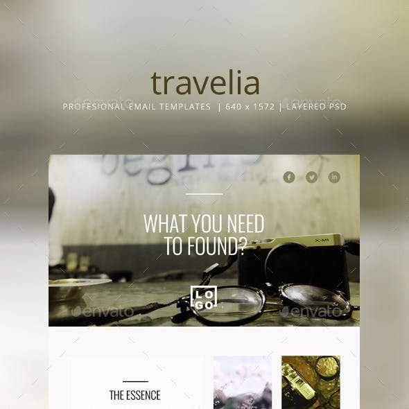 Simple Email Templates -Travelia-