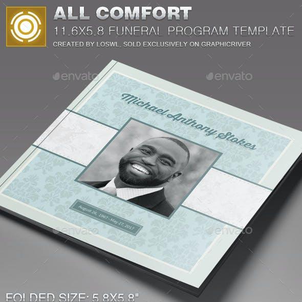 All Comfort Funeral Program Template