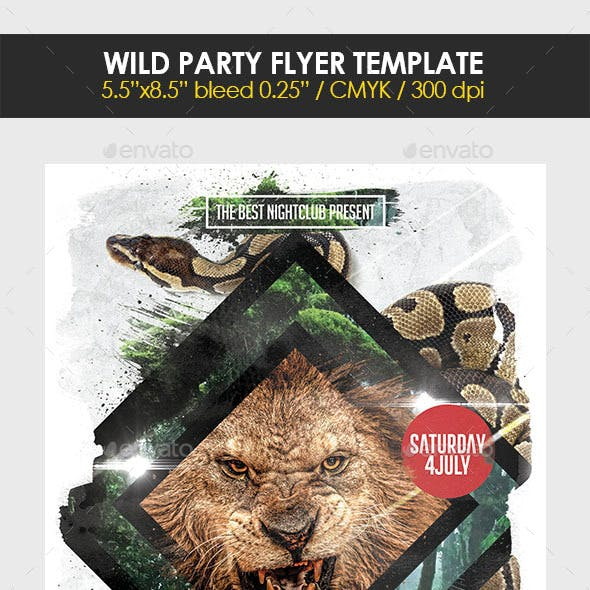 Wild Party Flyer Template