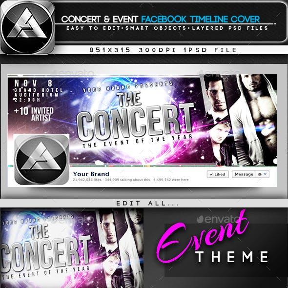 Concert  & Event Facebook Timeline Cover