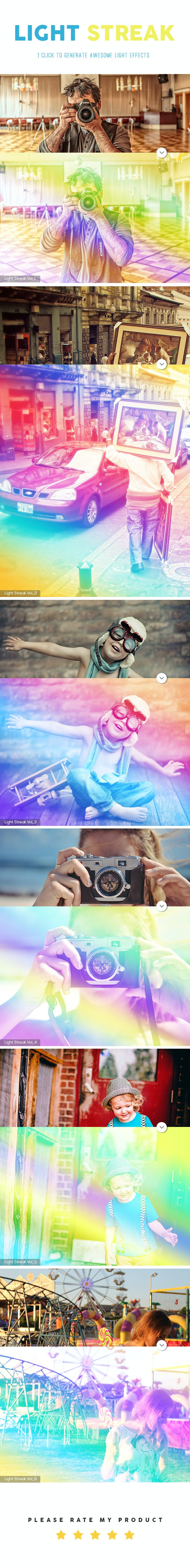 Light Streak Action - Photo Effects Actions