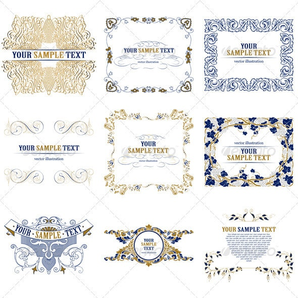 Set of Square Decorative Borders - Borders Decorative