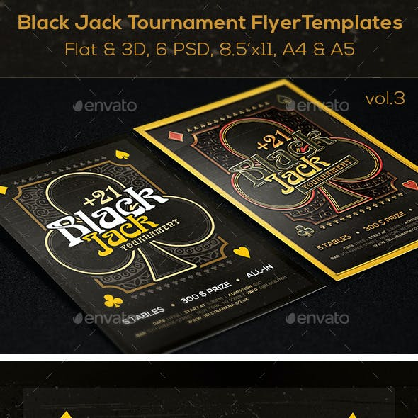 Black Jack Mag. Ad, Poster or Flyer – Flat & 3D