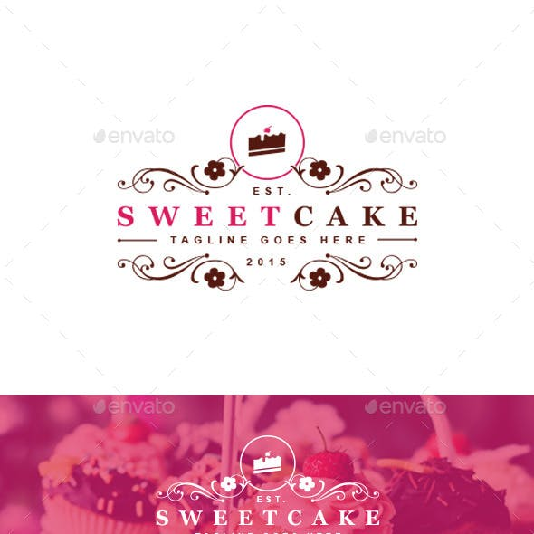 Sweet Cake Logo Template