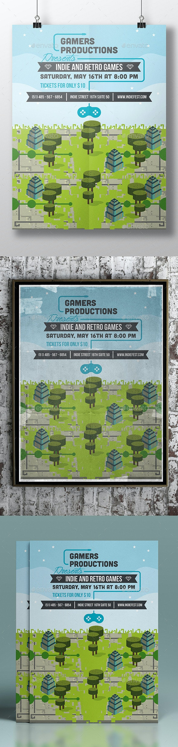 Game Festival Poster Template - Miscellaneous Events