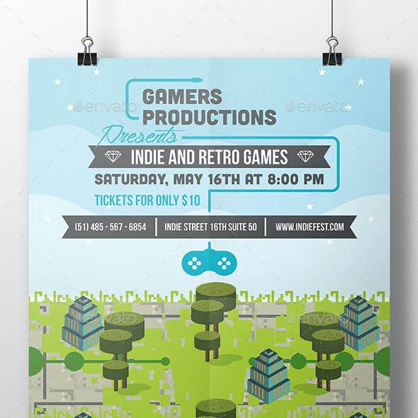 Game Festival Poster Template