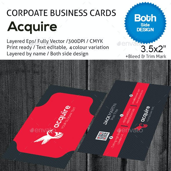 Acquire 2 Corporate Business Cards