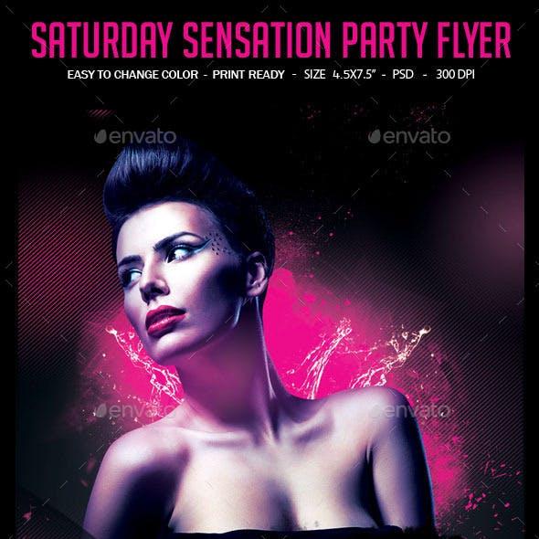 Saturday Sensation Party Flyer