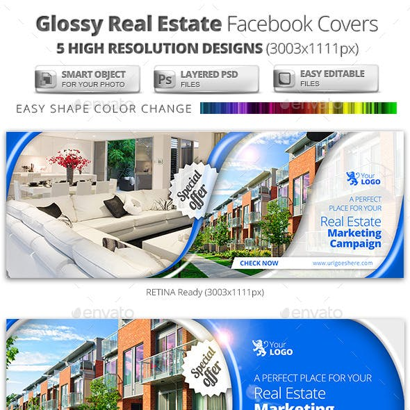 Glossy Real Estate Facebook Covers