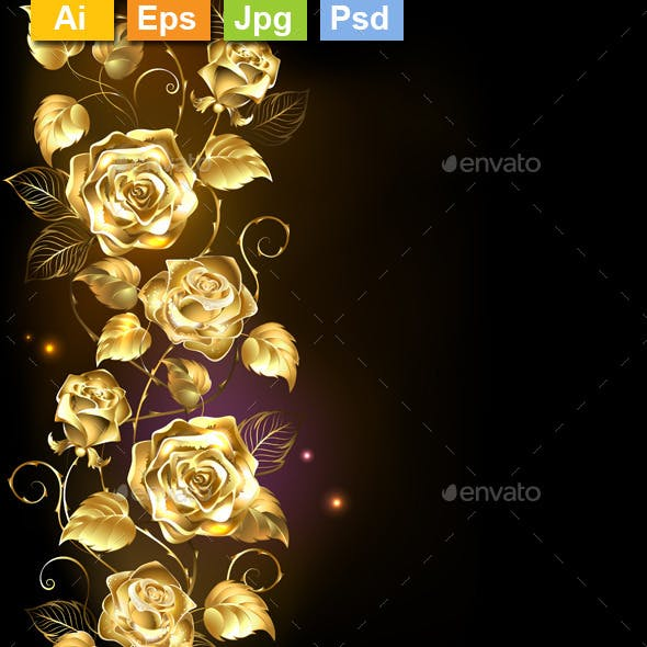 Twisted Gold Rose