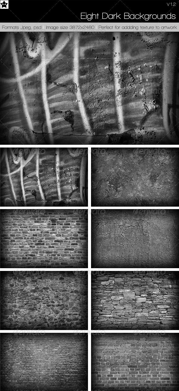 8 High Res Dark Backgrounds Textures - Stone Textures