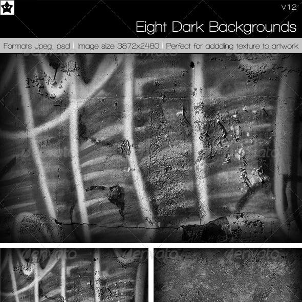 8 High Res Dark Backgrounds Textures