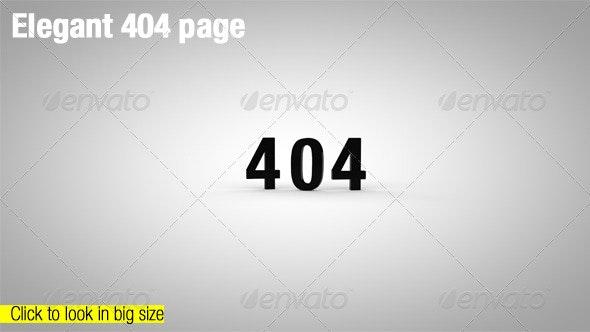 Elegant 404 Page - Miscellaneous Web Elements