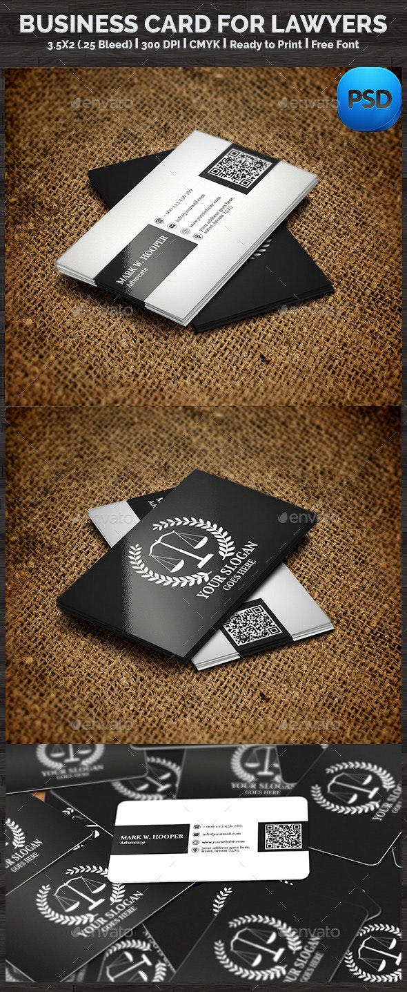 Business Card For Lawyers - Corporate Business Cards