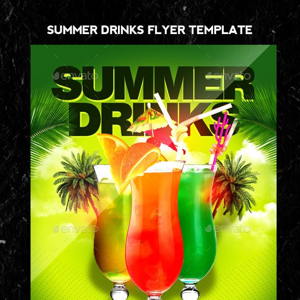 Summer Drinks Flyer